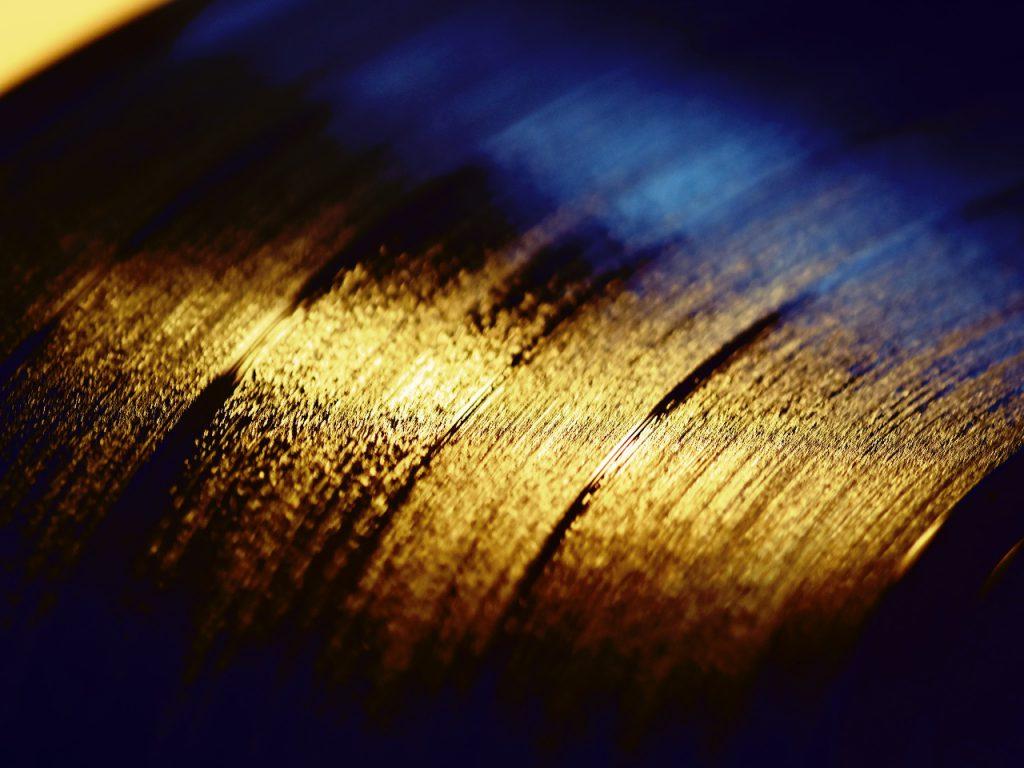 Schwarzes Vinyl