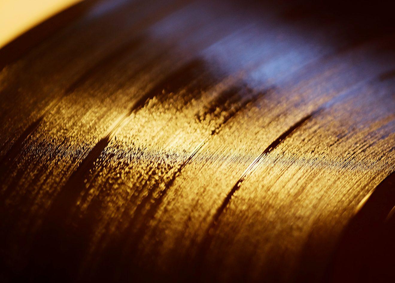 Makroaufnahme einer Schallplatte